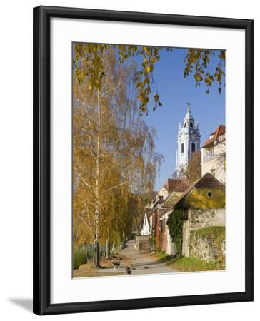 Collegiate Church in Durnstein, an Icon of the Wachau Area. Austria-Martin Zwick-Framed Photographic Print