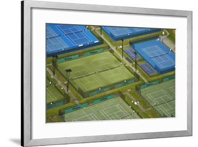 Tennis Courts, Albany, Auckland, North Island, New Zealand-David Wall-Framed Photographic Print