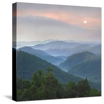 Sunrise over Pisgah National Forest from Blue Ridge Parkway, North Carolina, Usa-Tim Fitzharris-Stretched Canvas Print