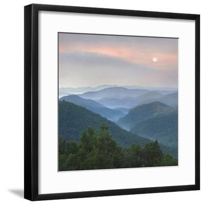 Sunrise over Pisgah National Forest from Blue Ridge Parkway, North Carolina, Usa-Tim Fitzharris-Framed Photographic Print