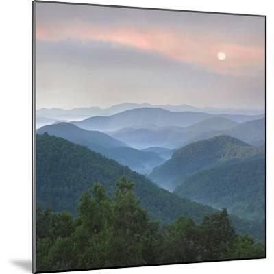 Sunrise over Pisgah National Forest from Blue Ridge Parkway, North Carolina, Usa-Tim Fitzharris-Mounted Photographic Print