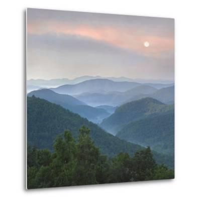 Sunrise over Pisgah National Forest from Blue Ridge Parkway, North Carolina, Usa-Tim Fitzharris-Metal Print