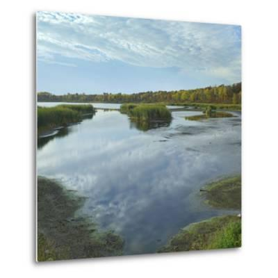 Clouds Reflect in the Pembina River Backwaters, Manitoba-Tim Fitzharris-Metal Print