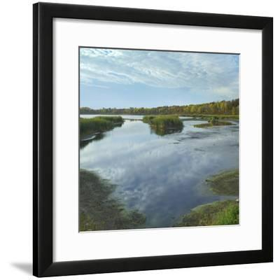 Clouds Reflect in the Pembina River Backwaters, Manitoba-Tim Fitzharris-Framed Photographic Print