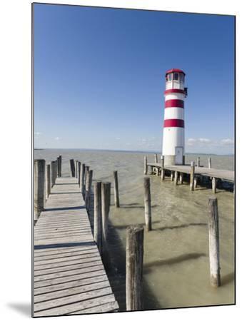 Podersdorf Am See on the Shore of Lake Neusiedl. Burgenland, Austria-Martin Zwick-Mounted Photographic Print