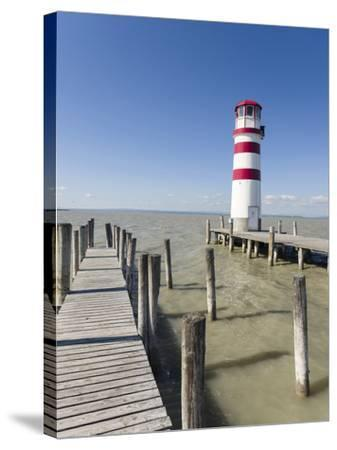 Podersdorf Am See on the Shore of Lake Neusiedl. Burgenland, Austria-Martin Zwick-Stretched Canvas Print