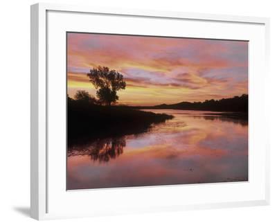Elmer Thomas Lake, Wichita Mountains National Wildlife Refuge, Oklahoma-Tim Fitzharris-Framed Photographic Print