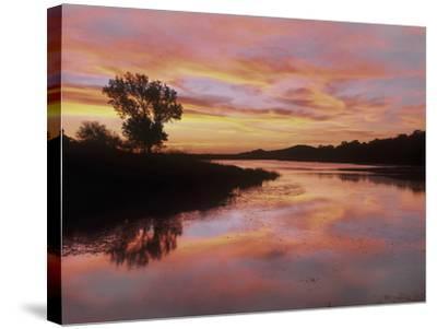 Elmer Thomas Lake, Wichita Mountains National Wildlife Refuge, Oklahoma-Tim Fitzharris-Stretched Canvas Print