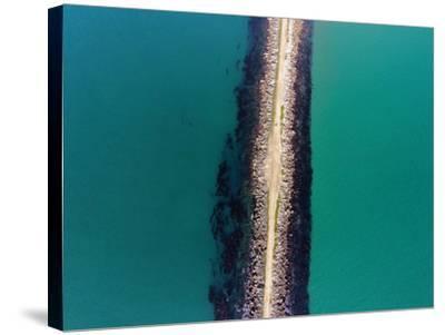 The Mole, Aramoana, at Entrance to Otago Harbour, Dunedin, South Island, New Zealand-David Wall-Stretched Canvas Print
