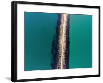 The Mole, Aramoana, at Entrance to Otago Harbour, Dunedin, South Island, New Zealand-David Wall-Framed Photographic Print