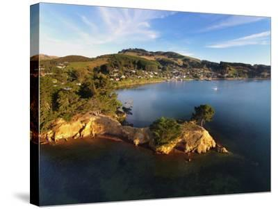 Yellow Point, Broad Bay and Otago Peninsula, Dunedin, South Island, New Zealand-David Wall-Stretched Canvas Print