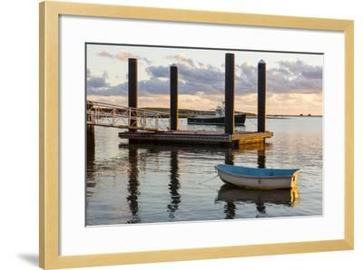 Skiffs Next to the Commercial Fishing Pier in Chatham, Massachusetts. Cape Cod-Jerry and Marcy Monkman-Framed Photographic Print