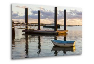 Skiffs Next to the Commercial Fishing Pier in Chatham, Massachusetts. Cape Cod-Jerry and Marcy Monkman-Metal Print