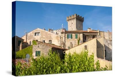 Medieval Fortress, Capalbio, Grosseto Province, Tuscany, Italy-Nico Tondini-Stretched Canvas Print