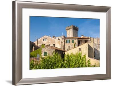 Medieval Fortress, Capalbio, Grosseto Province, Tuscany, Italy-Nico Tondini-Framed Photographic Print