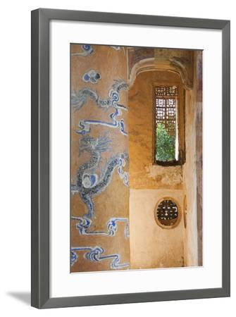 Vietnam, Hue. Tomb of Emperor Tu Duc-Walter Bibikow-Framed Photographic Print