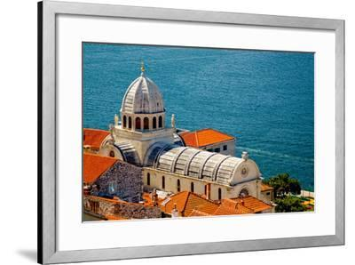 Cathedral of St. James in Sibenik, Croatia-Lucertolone-Framed Photo