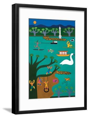 Un jour d'ete a Geneve, 2016-Cristina Rodriguez-Framed Giclee Print