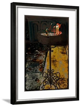 Devotional Candles; from the Series Church of the Holy Sepulchre, 2016-Joy Lions-Framed Giclee Print