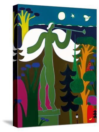 L'ange joue de la trompette sur le toit du Musee d'Art et d'Histoire, 2015-Cristina Rodriguez-Stretched Canvas Print