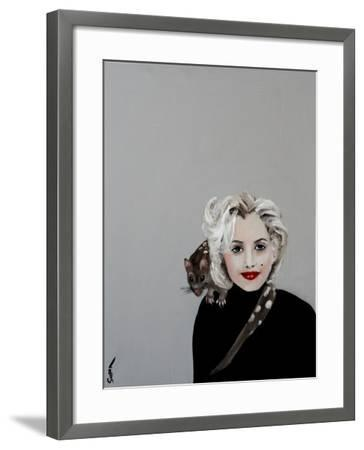 Marilyn with Quoll, 2016-Susan Adams-Framed Giclee Print
