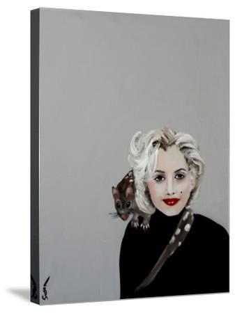 Marilyn with Quoll, 2016-Susan Adams-Stretched Canvas Print