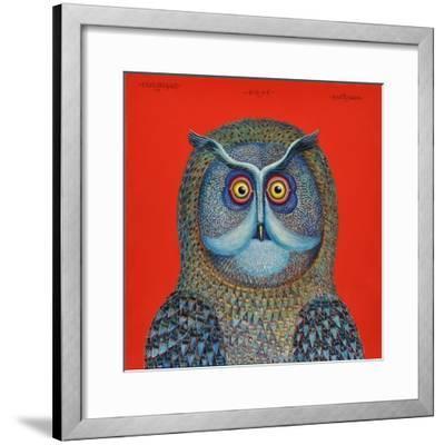 Long-Eared Owl, 2015-Tamas Galambos-Framed Giclee Print