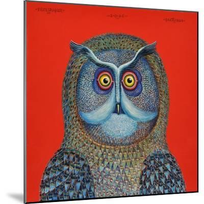 Long-Eared Owl, 2015-Tamas Galambos-Mounted Giclee Print