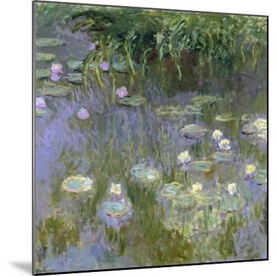 Water Lilies, C1915-Claude Monet-Mounted Premium Giclee Print