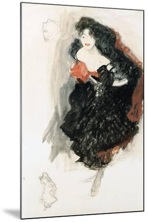 Study For Judith II-Gustav Klimt-Mounted Giclee Print