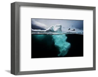 An Iceberg Off the Antarctic Peninsula-David Doubilet-Framed Photographic Print
