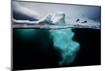 An Iceberg Off the Antarctic Peninsula-David Doubilet-Mounted Photographic Print