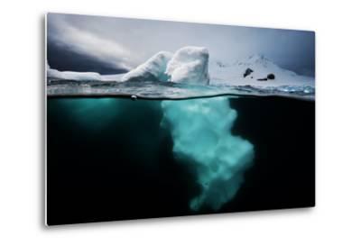 An Iceberg Off the Antarctic Peninsula-David Doubilet-Metal Print