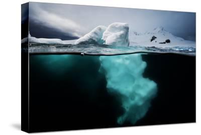 An Iceberg Off the Antarctic Peninsula-David Doubilet-Stretched Canvas Print