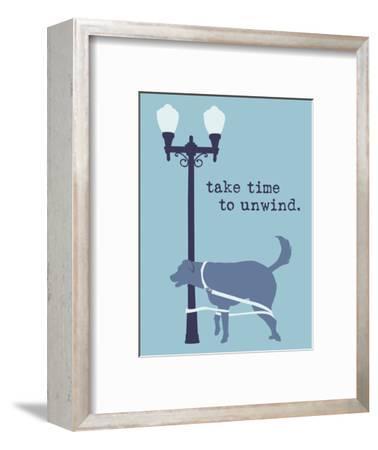 Unwind - Blue Version-Dog is Good-Framed Art Print