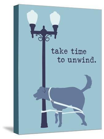 Unwind - Blue Version-Dog is Good-Stretched Canvas Print