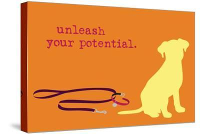 Unleash - Orange Version-Dog is Good-Stretched Canvas Print