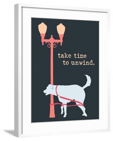 Unwind - Dark Version-Dog is Good-Framed Art Print