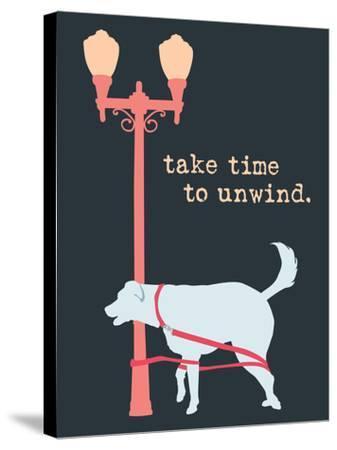 Unwind - Dark Version-Dog is Good-Stretched Canvas Print