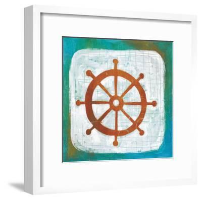 Ahoy IV Red Blue-Melissa Averinos-Framed Art Print