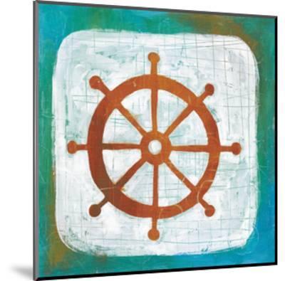 Ahoy IV Red Blue-Melissa Averinos-Mounted Art Print