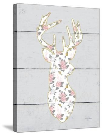 Floral Deer I-Cleonique Hilsaca-Stretched Canvas Print
