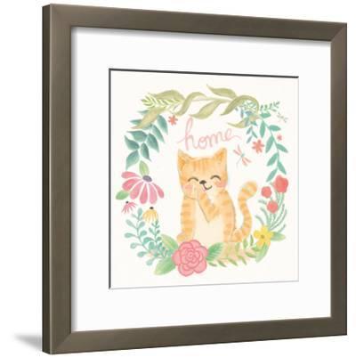 Garden Friends White III-Mary Urban-Framed Art Print