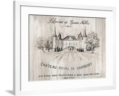 Chateau Chambort on Wood-Danhui Nai-Framed Art Print