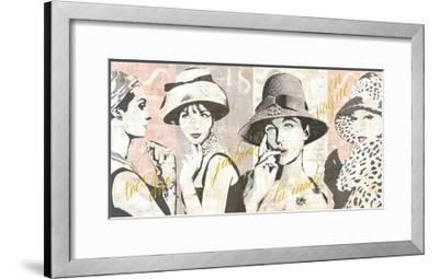 Fashion Week Paris Halftone V-Sue Schlabach-Framed Art Print