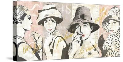 Fashion Week Paris Halftone V-Sue Schlabach-Stretched Canvas Print