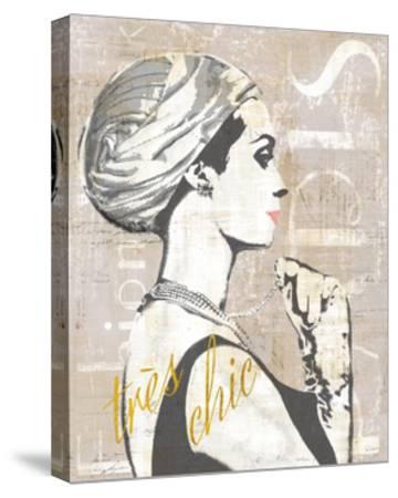 Fashion Week Paris Halftone III-Sue Schlabach-Stretched Canvas Print