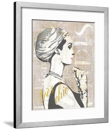 Fashion Week Paris Halftone III-Sue Schlabach-Framed Art Print