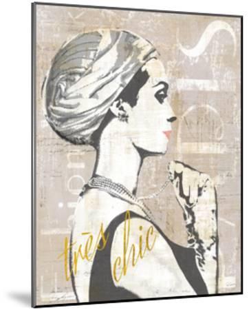 Fashion Week Paris Halftone III-Sue Schlabach-Mounted Art Print