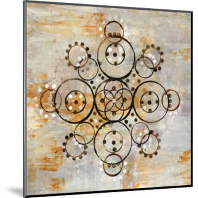 Saffron Mandala I Crop-Melissa Averinos-Mounted Art Print